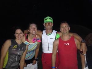 FJR teammates and coach pre swim